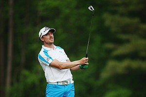 Jonas Blixt during Sunday's final round of the 2014 Masters at Augusta National.