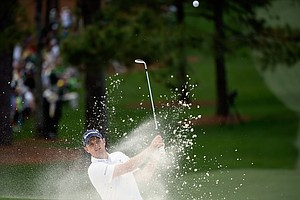 Justin Rose during Sunday's final round of the 2014 Masters at Augusta National.