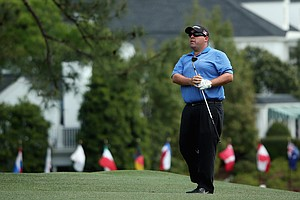 Kevin Stadler during Sunday's final round of the 2014 Masters at Augusta National.