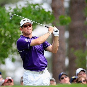 Lee Westwood during Sunday's final round of the 2014 Masters at Augusta National.