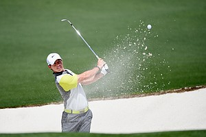 Rory McIlroy during Sunday's final round of the 2014 Masters at Augusta National.