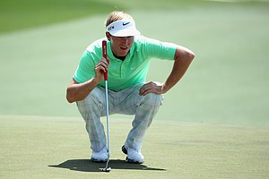 Russell Henley during Sunday's final round of the 2014 Masters at Augusta National.