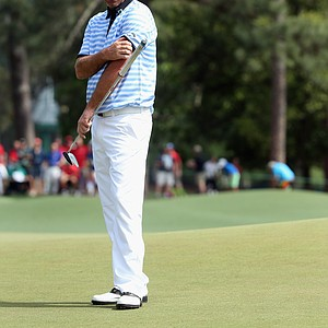 Thomas Bjorn during Sunday's final round of the 2014 Masters at Augusta National.