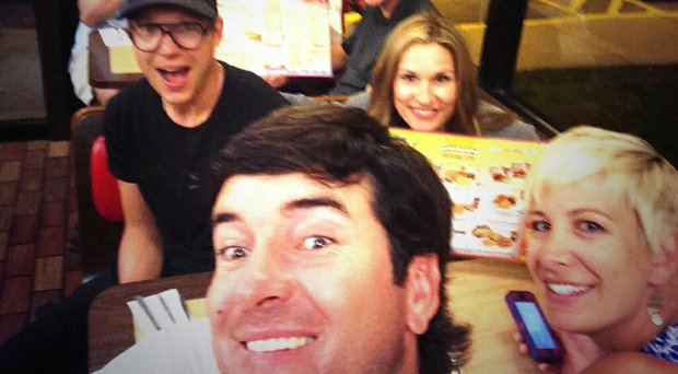 Bubba Watson tweeted a selfie photo with his wife, Angie, and a Waffle House crowd after winning the 2014 Masters in Augusta, Ga.