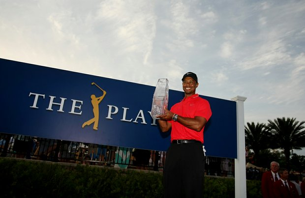 The Players Championship will move to a three-hole aggregate starting in 2014. (Shown here is the 2013 Players Championship, Tiger Woods).