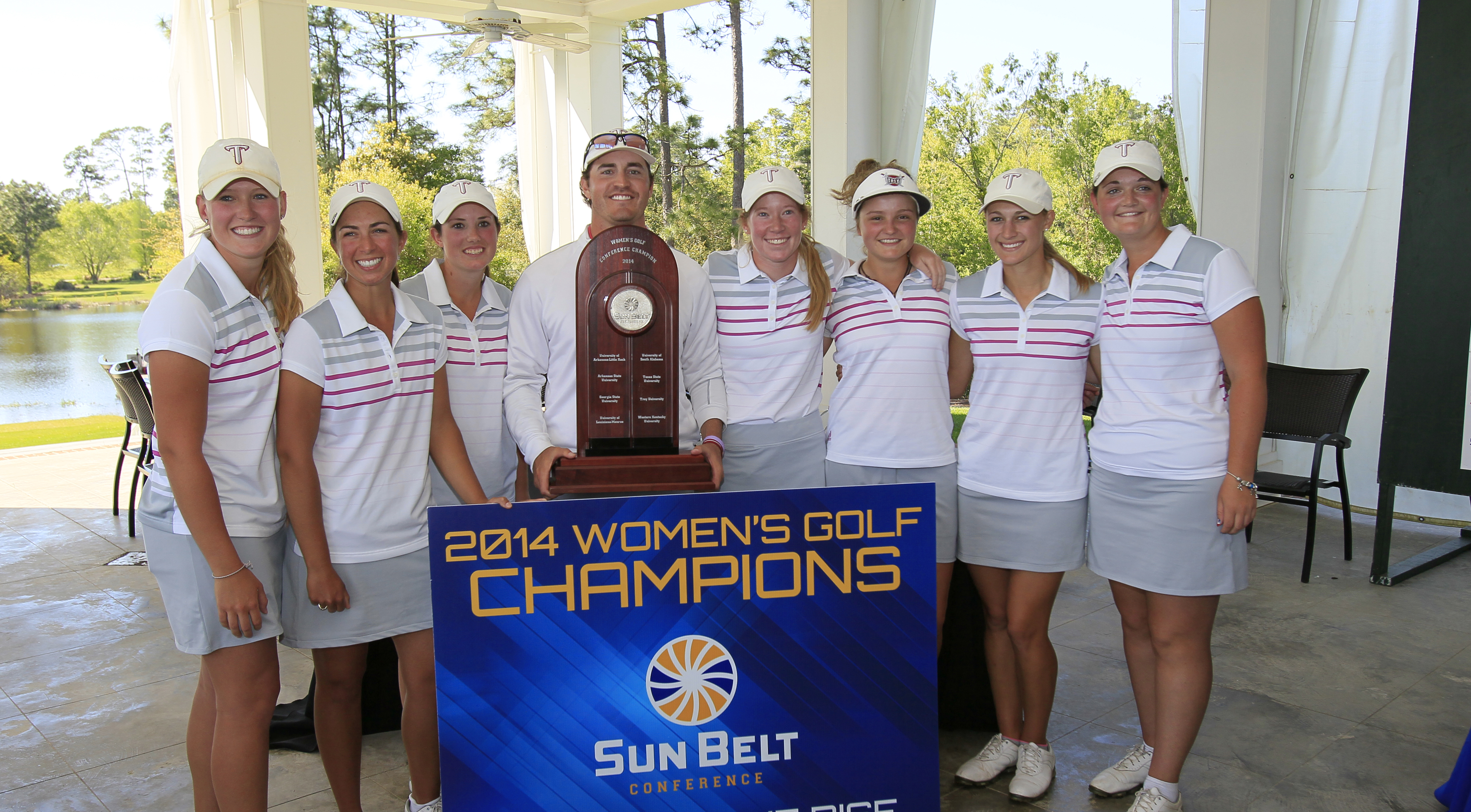 The Troy Trojans became Sun Belt champions after finishing six strokes ahead of Texas State at 32-over 896 in Loxley, Ala.