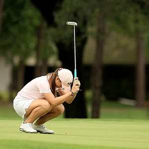 Mary Janiga reacts to missing her putt at No. 18 on Saturday during AJGA's TaylorMade-Adidas Golf Junior at Innisbrook hosted by Sean O'Hair.