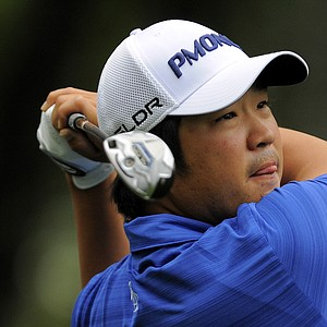 John Huh during Saturday's play at the PGA Tour's 2014 RBC Heritage in Hilton Head Island, S.C.