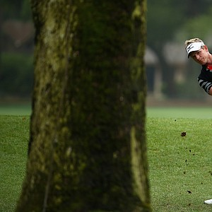 Luke Donald during the third day of play at the PGA Tour's 2014 RBC Heritage in Hilton Head Island, S.C.