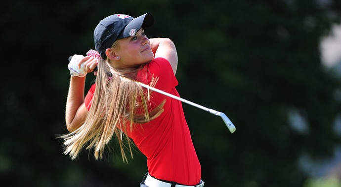 Freshman Jessica Porvasnik helped lead Ohio State to a win at the Lady Buckeye Invitational.