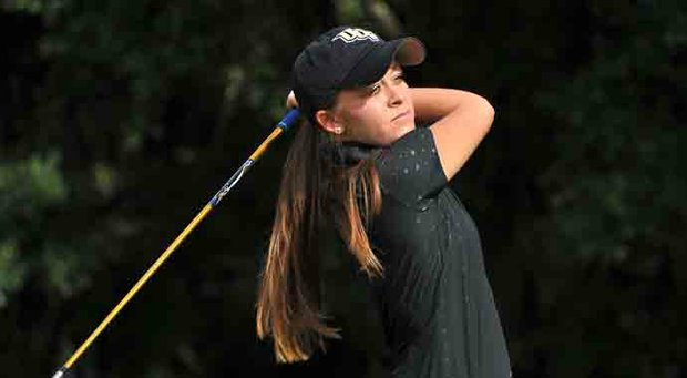 Ashley Holder and the UCF Knights lead the AAC Championship through one round.