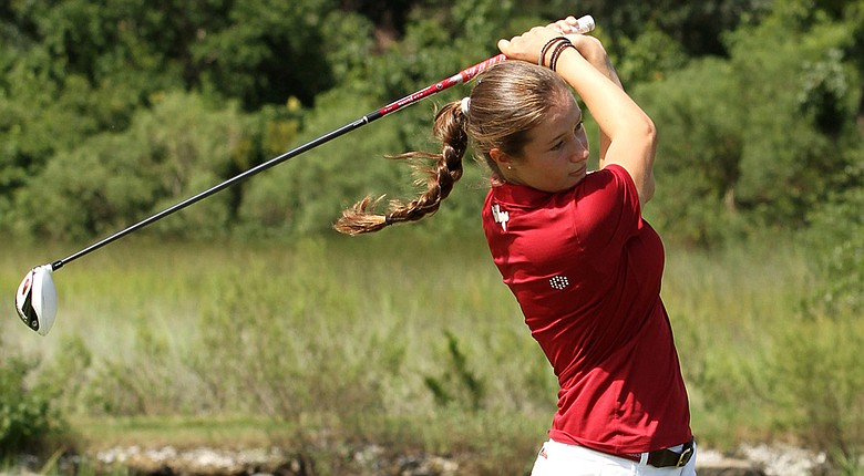 College of Charleston freshman Laura Fuenfstueck won the Colonial Athletic Association individual title.