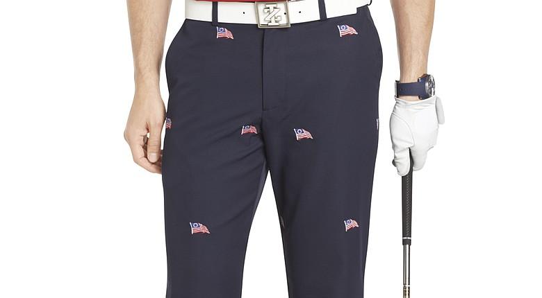Izod's Schiffli Flag Pant