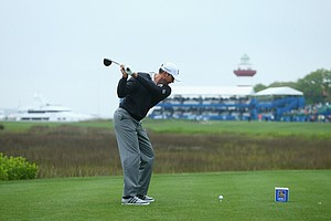 Matt Kuchar during Saturday's third round of the 2014 RBC Heritage at Harbour Town Golf Links.