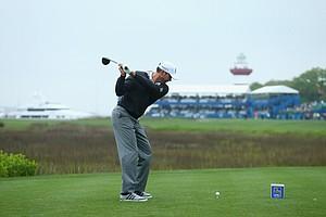 Matt Kuchar during Saturday's third round of the 2014 RBC Heritage at Harbour Town Golf Links.