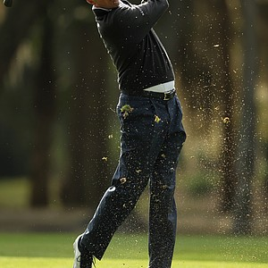 Matt Kuchar during Thursday's first round of the 2014 RBC Heritage at Harbour Town Golf Links.