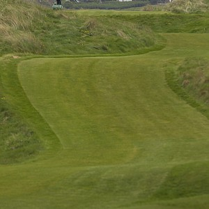 The 14th hole at Royal Liverpool in Hoylake, host to the 2014 British Open.