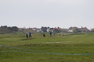 Players take on Royal Liverpool in Hoylake, host to the 2014 British Open.