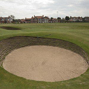 The 2nd hole at Royal Liverpool in Hoylake, host of the 2014 British Open.
