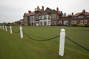The clubhouse at Royal Liverpool in Hoylake, host of the 2014 British Open.