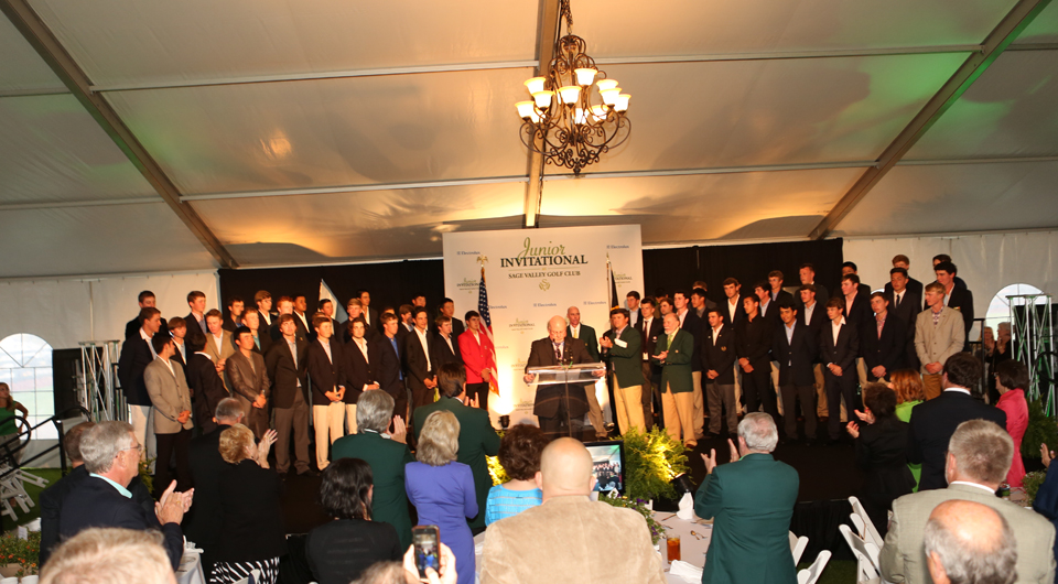 During a week when junior golfers are made to feel like princes, Gary Player delivered a message of humility and gratitude Tuesday night at the Junior Invitational at Sage Valley.