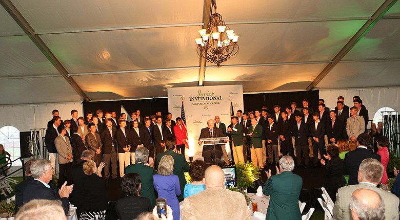 Fifty-four of the world's top juniors made their way up to the sage Tuesday night at the Junior Invitational Opening Ceremony where Gary Player was the guest speaker.