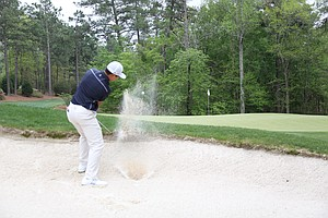 Andy Zhang during the second round of the Junior Invitational at Sage Valley Golf Club in Graniteville, S.C.
