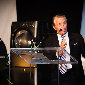 Gary Player gives his speech during the Junior Invitational at Sage Valley Opening Ceremony.