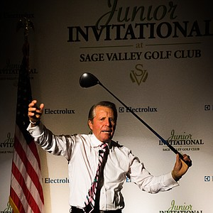 Gary Player during the Junior Invitational at Sage Valley Opening Ceremony.