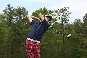 Keenan Huskey during the second round of the Junior Invitational at Sage Valley Golf Club in Graniteville, S.C.