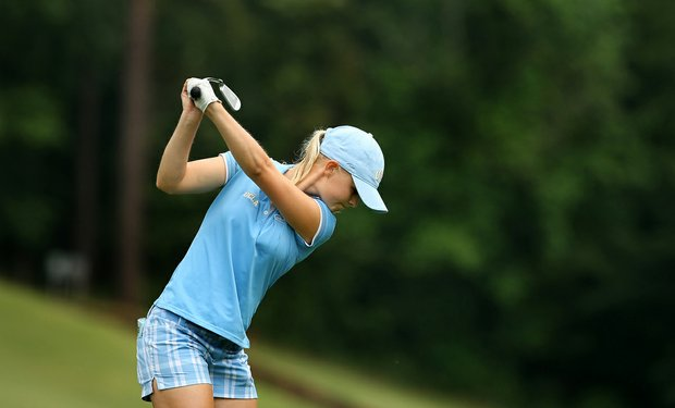 Louise Ridderstrom and the UCLA Bruins played to a lead in the first round of the Pac-12 Championship.