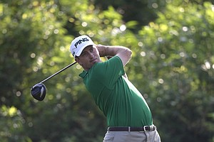 MIchael Thompson during Friday's second round of the PGA Tour's 2014 Zurich Classic of New Orleans.