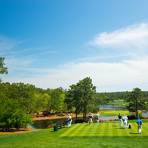 A view of the par-3 second hole during Tuesday's junior-am at the Junior Invitational at Sage Valley.