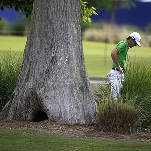 Scott Langley during Friday's second round of the PGA Tour's 2014 Zurich Classic of New Orleans.