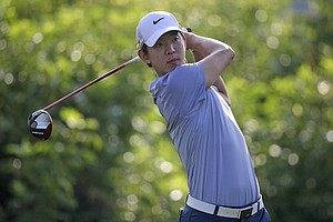 Seung-Yul Noh during Friday's second round of the PGA Tour's 2014 Zurich Classic of New Orleans.