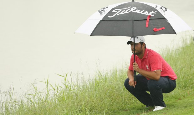 Alexander Levy during the third round of the European Tour's 2014 Volvo China Open.