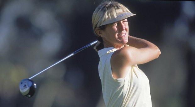 Susie Kirk, shown here at the 2001 Kraft Nabisco Championship as Susie Redman.