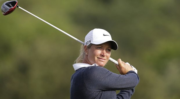 Suzann Pettersen during Thursday's first round of the North Texas LPGA Shootout at Las Colinas in Irving, Texas.