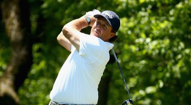 Phil Mickelson during the third round of the Wells Fargo Championship at Quail Hollow Club in Charlotte, N.C.
