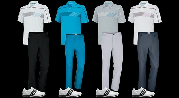 Dustin Johnson's scripted apparel for The 2014 Players Championship.