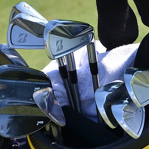 Brandt Snedeker uses Bridgestone J40 Cavity Back irons, spotted at TPC Sawgrass during the PGA Tour's 2014 Players Championship in Ponte Vedra Beach, Fla.