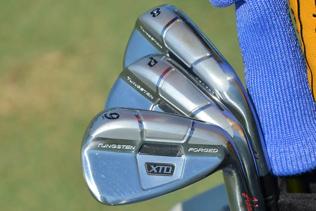 Kenny Perry will be playing at TPC Sawgrass with these Adams XTD Forged irons, spotted during practice for the PGA Tour's 2014 Players Championship in Ponte Vedra Beach, Fla.