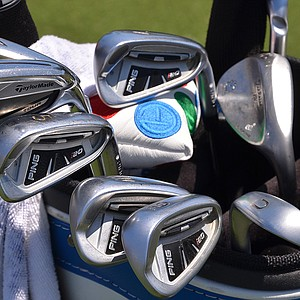 Stewart Cink uses Ping i20 irons, but also has a TaylorMade RocketBladez Tour 3-iron in his bag at the Players Championship this week at TPC Sawgrass in Ponte Vedra Beach, Fla.