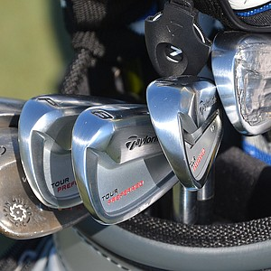 Y.E. Yang plays TaylorMade's new Tour Preferred MC irons, spotted during practice at TPC Sawgrass for the PGA Tour's 2014 Players Championship in Ponte Vedra Beach, Fla.