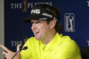 Bubba Watson speaks Tuesday at TPC Sawgrass in Ponte Vedra Beach, Fla., leading up to this week's PGA Tour's 2014 Players Championship.