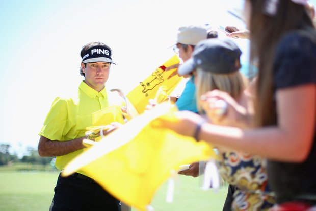Bubba Watson greets fans Tuesday at TPC Sawgrass in Ponte Vedra Beach, Fla., leading up to this week's PGA Tour's 2014 Players Championship.