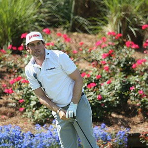 Keegan Bradley practices Tuesday at TPC Sawgrass in Ponte Vedra Beach, Fla., leading up to this week's PGA Tour's 2014 Players Championship.