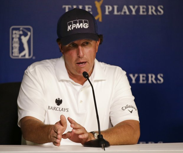 Phil Mickelson speaks Tuesday at TPC Sawgrass in Ponte Vedra Beach, Fla., leading up to this week's PGA Tour's 2014 Players Championship.