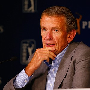 PGA Tour commissioner Tim Finchem speaks Tuesday at TPC Sawgrass in Ponte Vedra Beach, Fla., leading up to this week's PGA Tour's 2014 Players Championship.
