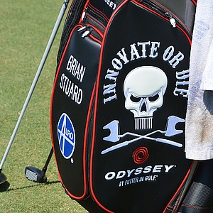 Brian Stuard is one of Callaway Golf's staff players at TPC Sawgrass using the new Odyssey bag, spotted at TPC Sawgrass during the PGA Tour's 2014 Players Championship in Ponte Vedra Beach, Fla.